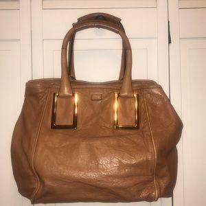 Chloe Carmel Tan Leather Handbag